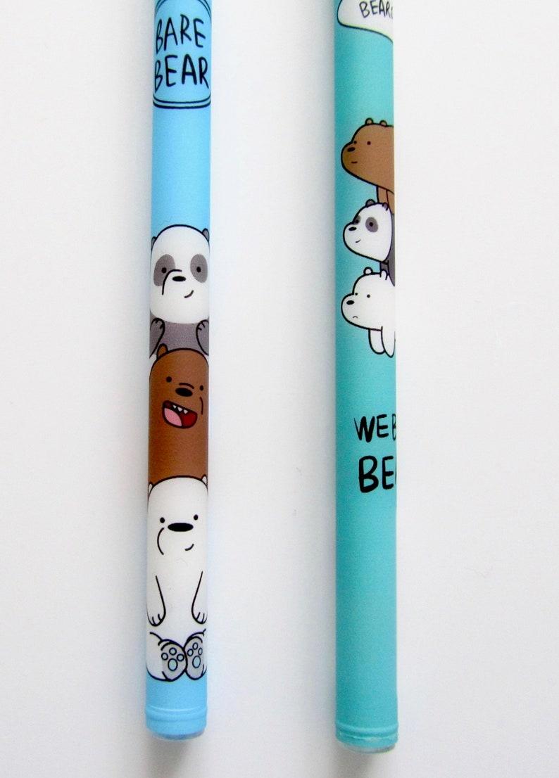 We Bare Bears Grizz Panda Ice Bear opaque cute kawaii kitsch black gel pens  sets