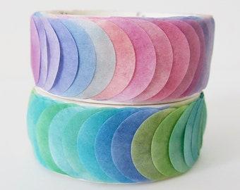 Watercolour spots washi sticky masking deco shapes