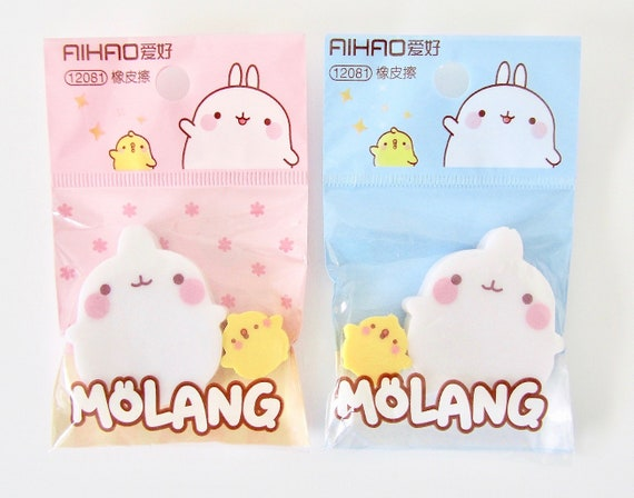 Molang Lovely Cute rabbit Bunny Living Room Shoes Blue