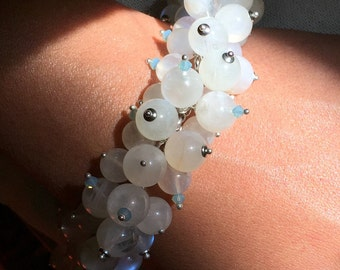 Shimmering Rainbow moonstone Bracelet. A mystical and mysterious gem of spiritual importance.