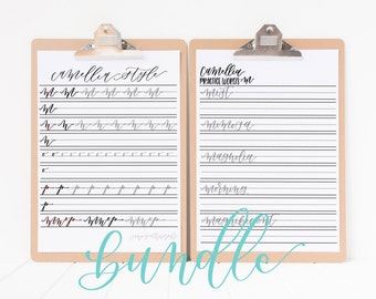 Camellia Style Letters and Words Worksheets | BUNDLE