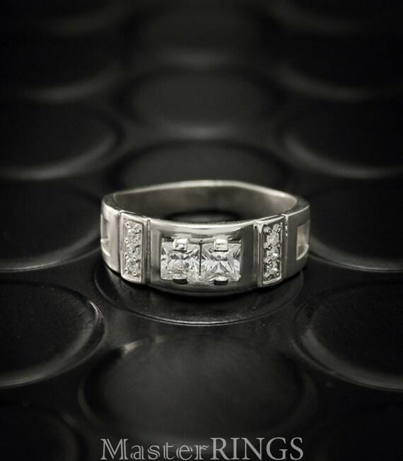 Manner Verlobungsring Einzigartige Herren Signet Ring Manner Etsy
