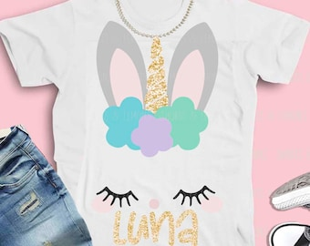 Bunny unicorn svg, Easter svg, unicorn svg, Bunny svg, Kids easter svg, SVG, DXF, EPS, easter, rabbit svg, iron on, bunny shirt, cutter