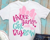 Kindergarten svg, Kindergarten Girl svg, Back to school svg, Girls svg, DXF, EPS, svg, kindergarten, kindergarten shirt, iron on, transfer