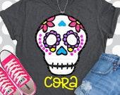 Sugar skull svg, Halloween svg, skull svg, skeleton svg, dia de los muertos, svg, shirt, halloween, DXF, coco svg, skull, halloween costume