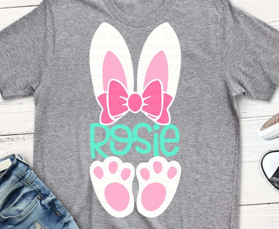 Easter Svg Bunny Girls Shirt