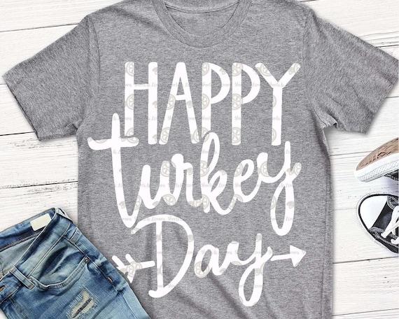 Happy Turkey Day Svg Fall Svg Svgs Thanksgiving Svg Turkey Etsy