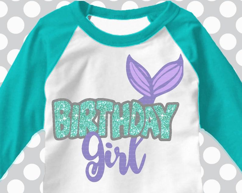 Mermaid Svg Mermaid Birthday Birthday Girl Mirrored Etsy