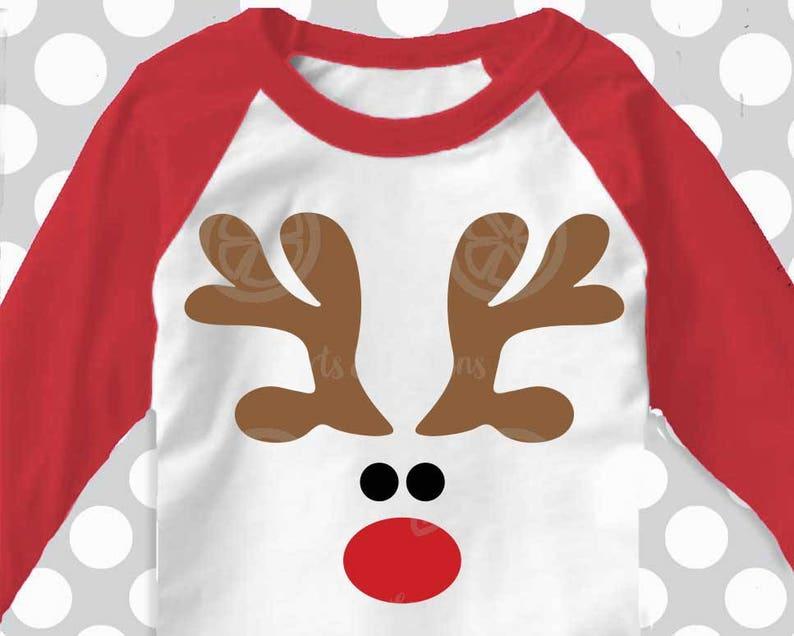 Reindeer Svg Boys Christmas Svg Red Nosed Reindeer Svg Etsy