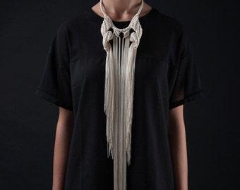 knotted fringe headpiece Fetish Jewellery Leather lingerie style CETO EYEMASK BLACK
