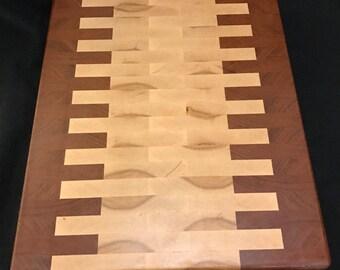 Padauk and Maple end grain cutting board