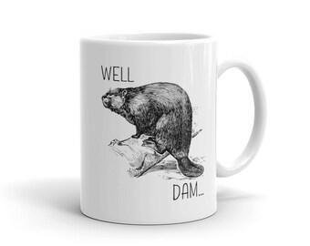 Une tasse de café castor drôle/Jacques   Animal de cadeau une tasse de café   Déclaration devis tasse   Beaver, une tasse de café   Jeu de mots le castor   Humour animaux cadeau   Beaver