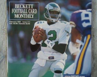 49ece69f0 1991 Randall Cunningham Beckett - Vintage magazine - Philadelphia Eagles  gift