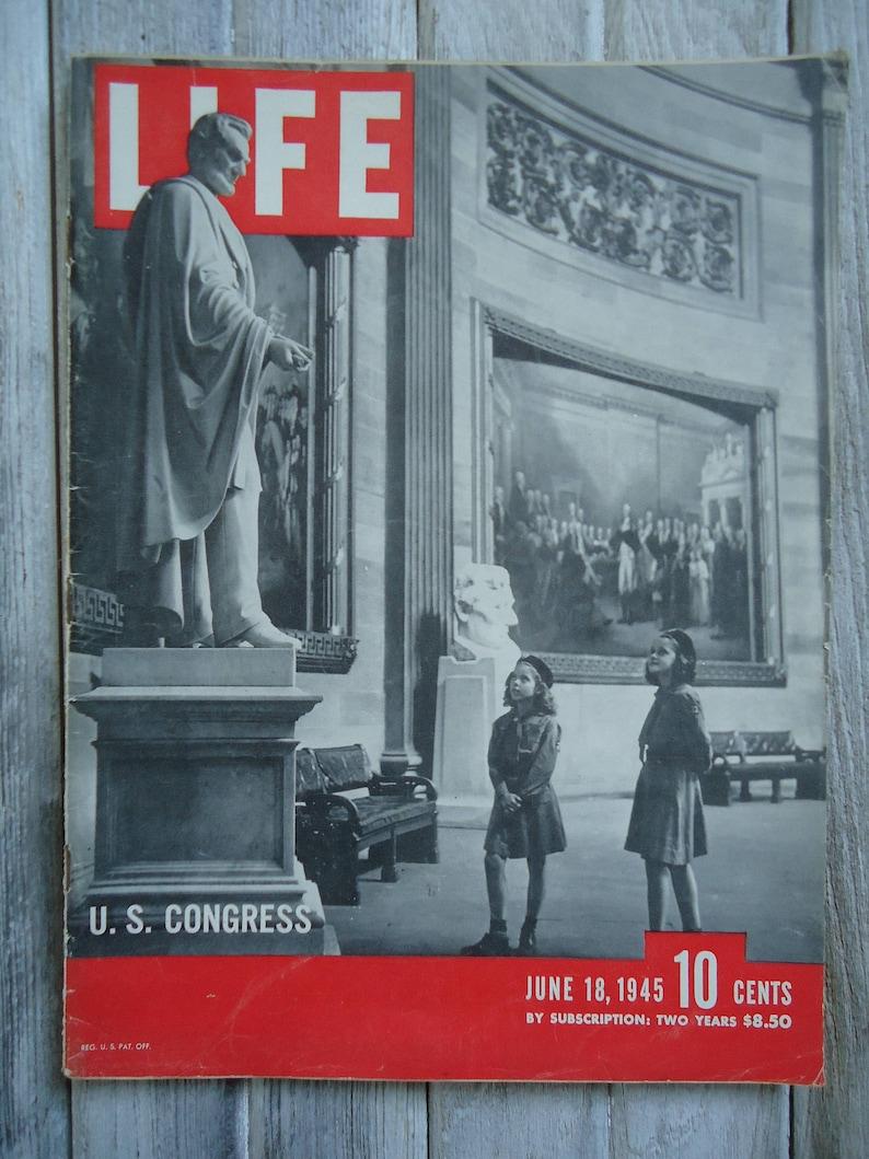 1945Us UsAmerica DécorGovernmentChild PhotoPaper EphemeraLife Magazine Congress Vintage American Décor FJlK1cT3