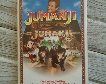 Vintage Jumanji VHS tape - Robin Williams - Jumanji VHS - Vintage VHS tape - Robin Williams Jumanji movie - Vintage movie collectible