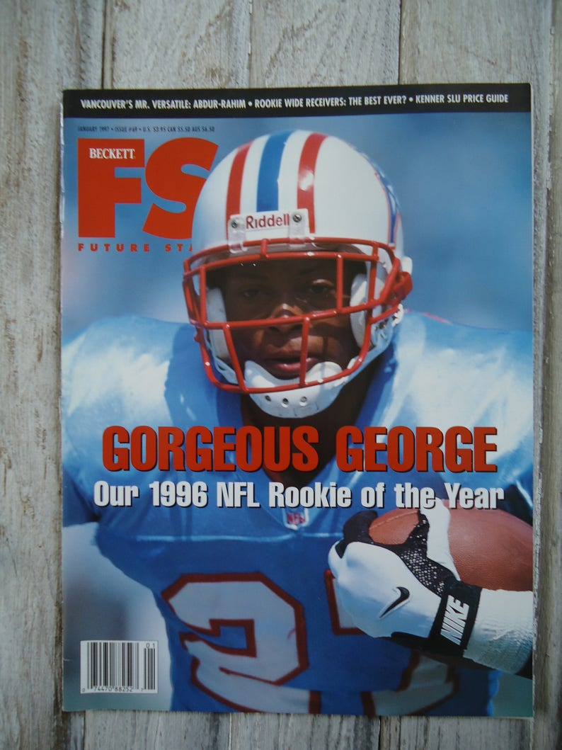 a7a7d692ad8 Vintage Eddie George magazine 1997 Eddie George Houston | Etsy