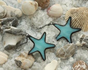 Starfish earrings, boho earrings, hippie earrings, bohemian earrings, gypsy earrings, boho chic earrings, beach earrings, starfishs jewelry
