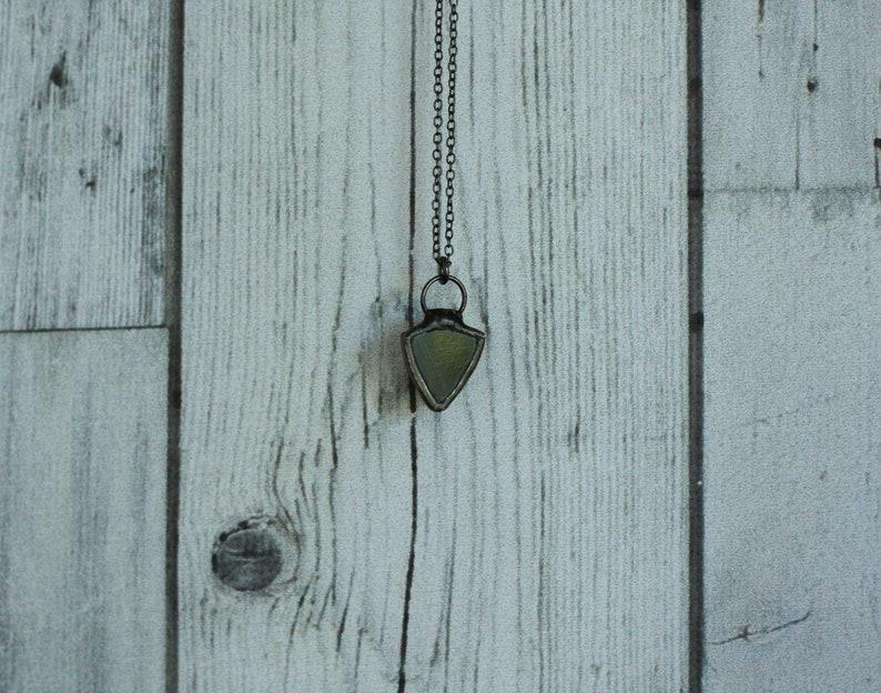 Simple Pendant simple necklace gothic dainty black necklace Small Dark Jewelry Black pendant witch pendant minimalist black necklace