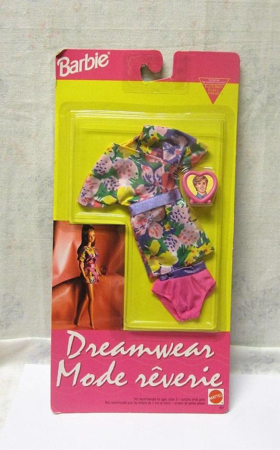 Vintage Barbie Clothes NIP Fashion Favorites NEW flower Skirt Yellow Top 1992
