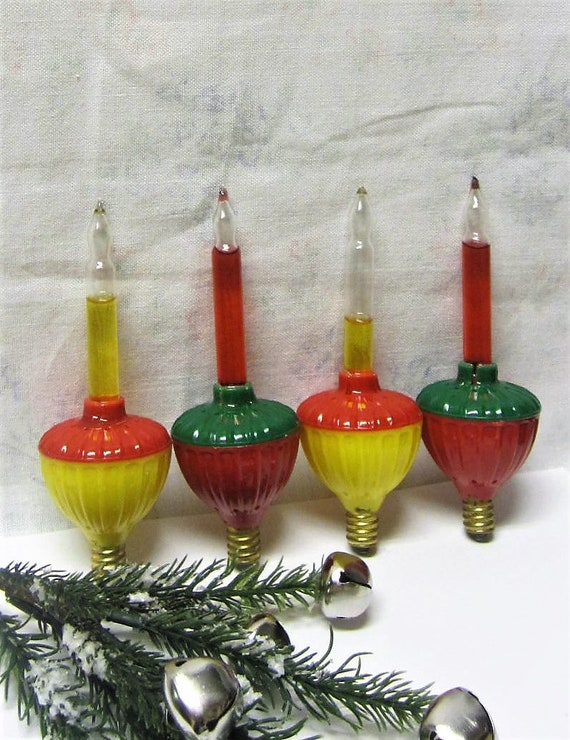 Replacement Christmas Bulbs.Christmas Bubble Lights Lot Of 4 Replacement Christmas Bulbs Working Vintage C7 Xmas Lights Noma