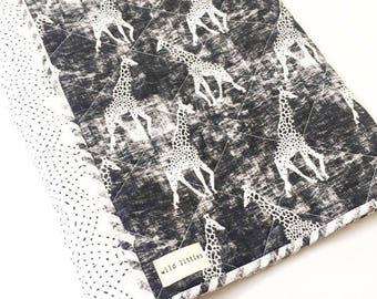 Modern Baby Quilt for Sale-Monochrome Baby Blanket-Handmade Baby Quilt-Gender Neutral Baby Quilt-Safari Nursery