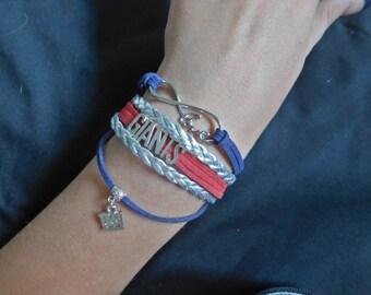 New York Giants Wrap Bracelet
