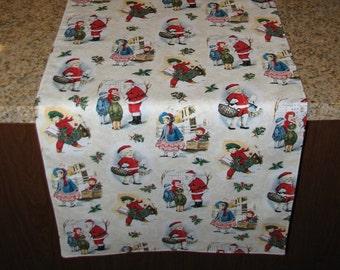 Christmas table runner Folk Christmas decor Table overlay Long table runner Christmas decoration Vintage style Christmas