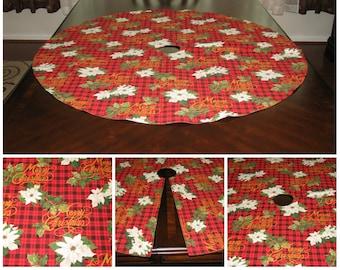 Xmas tree skirt Gold tree skirt Plaid tree skirt Red tree skirt Christmas tree skirt Poinsettia tree skirt Christmas decoration