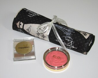 Travel brush roll Makeup roll bag Pencil roll up case Roll up brush case Makeup brush roll Travel brush holder Cosmetic brush roll