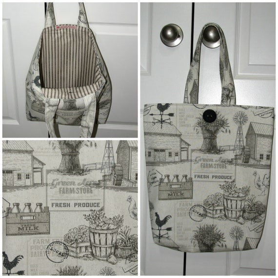 Farmers market canvas tote bag Womens market bag Everyday  3a849920ba