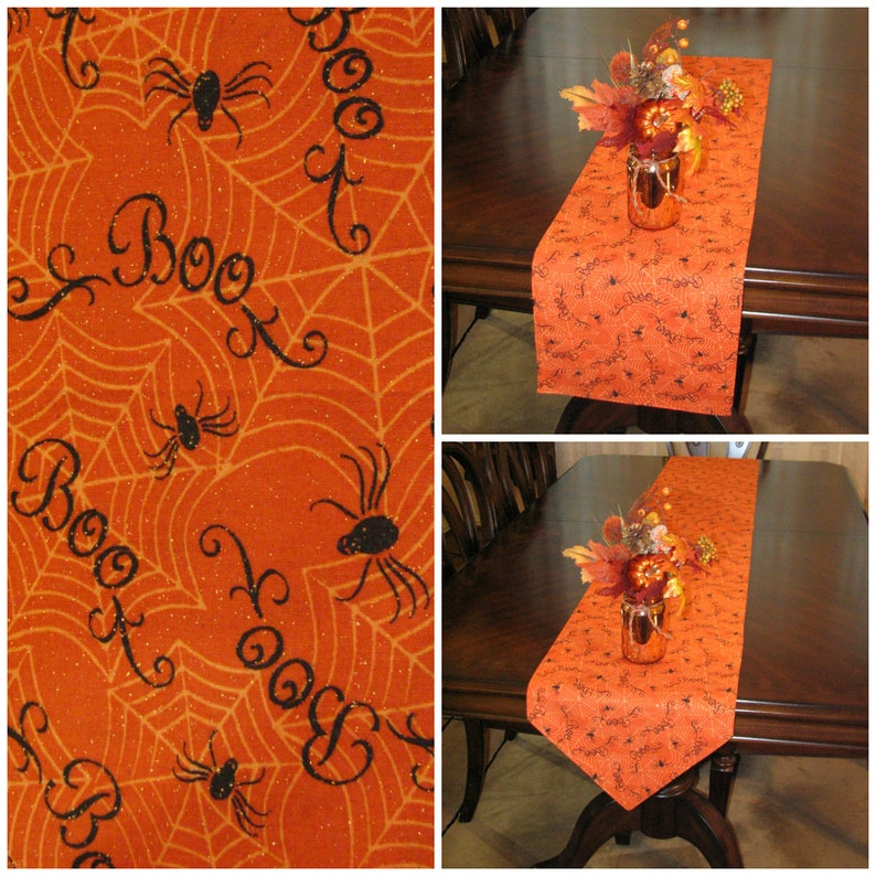 Spider Web Halloween Decor Halloween Party Table Runner Etsy