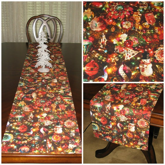 Christmas Table Runner Christmas Table Decor Kitchen Island Christmas Decor Holiday Table Runner