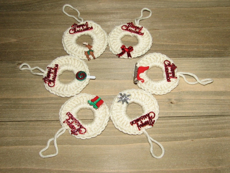 Cute Christmas Decor Crochet Xmas Decor Xmas Wreath Crochet Etsy