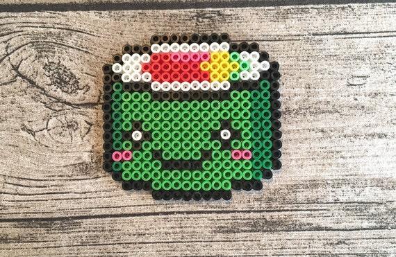Kawaii Sushi Roll Perler Bead Pixel Art Keychain Magnet