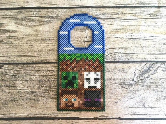 Minecraft Perler Bead Tür Kleiderbügel Pixel Art Video Spiel Etsy - Minecraft pixel spiele
