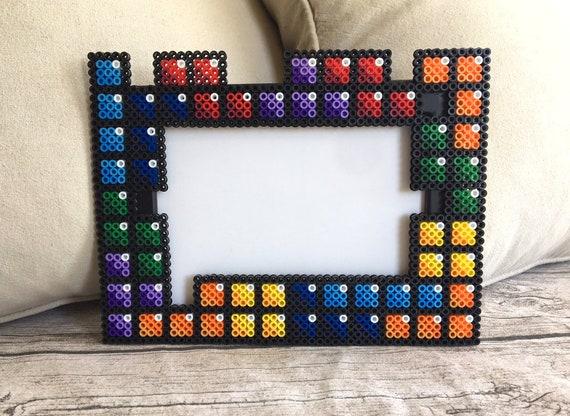 Tetris Video Game Perler Bead Pixel Art Photo Frame Video Game Art Picture Frame