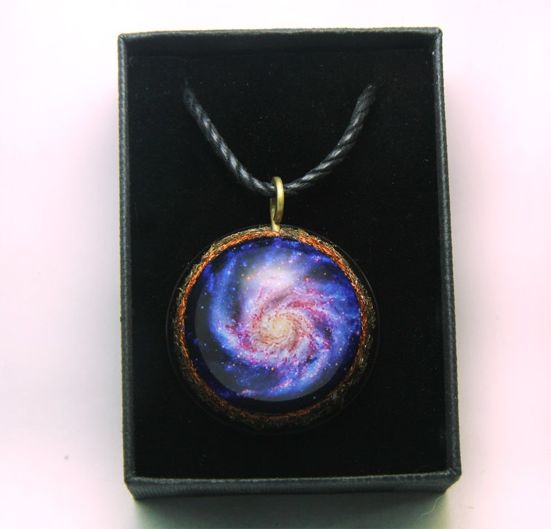 valentine/'s day Inspirational giftMagical Galaxy orgone pendantGalaxy PendantOrgone pendanthealing jewelryemf protection