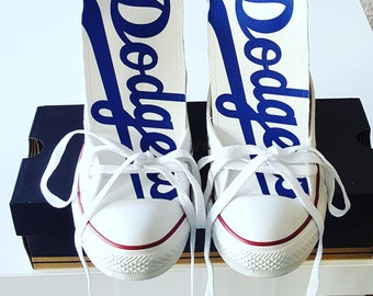 184016e7a91 Custom Los Angeles Dodgers Converse (Version 1)