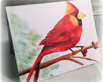 Winged Watercolors Blank Note Card