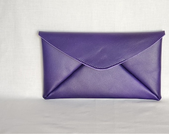 Leather top grain Enveloppe Clutch, Tablet case, Genuine leather case, paper organiser, Leather Pouch, Christmas gift, Men, women unisex