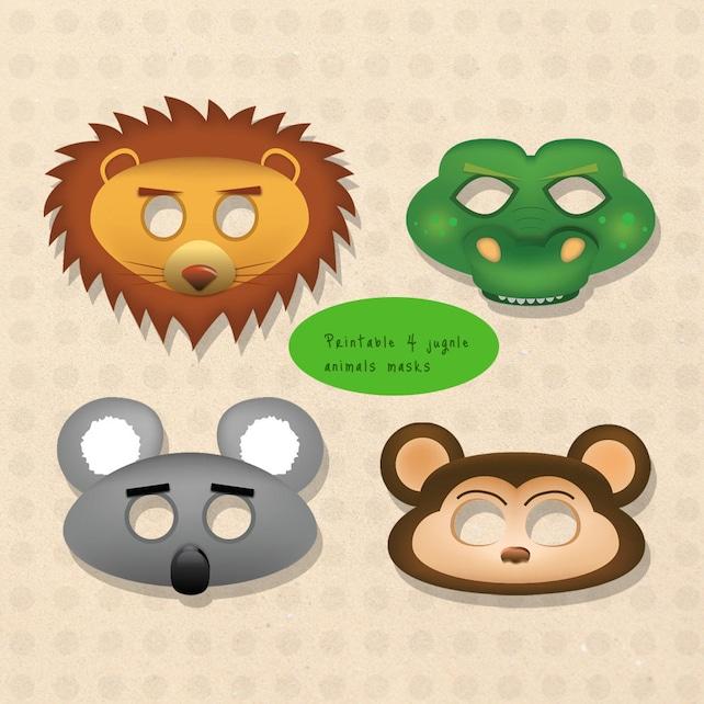 Jungle animal mask lion mask crocodile mask alligator mask | Etsy