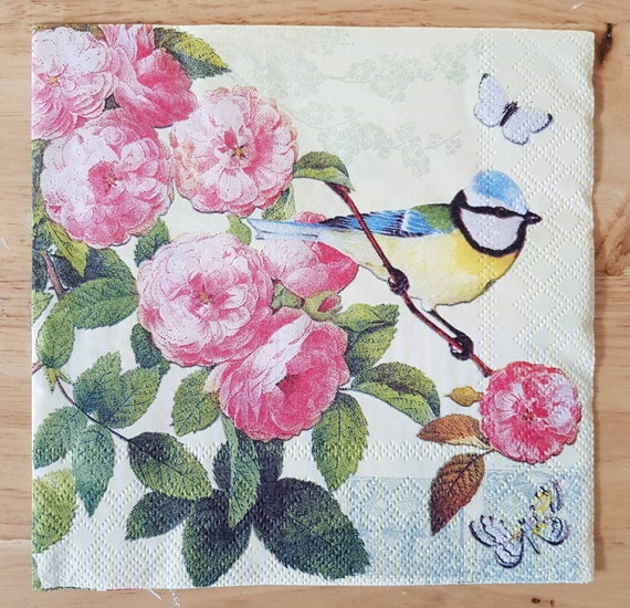4 Lunch Paper Napkins for Decoupage Party Table Craft Vintage  Twelve o´clock