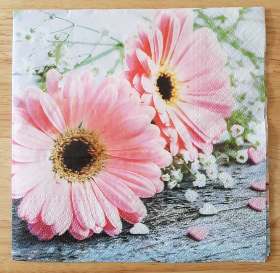 4 x Single Paper Napkins Spring Flowers  for Decoupage and Crafting 122