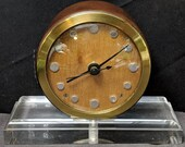 1940 39 s Lucite fiberglass wood Art Deco Clock converted to battery