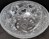 Large Lalique Pinson Bird Bowl French Crystal 9.25 quot x 3.75 quot