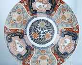 c1870 18 quot Japanese Imari Charger with nice Hand Painted decoration