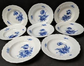 0581141cfe 8 Royal Copenhagen Blue Flowers Scalloped Sauce  Berry Bowls 1619 5 5 8