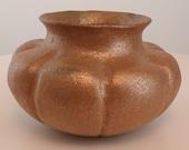Angie Yazzie Pueblo Micaceous Pottery Melon Ribbed Jar