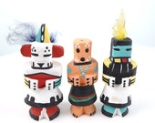 Vintage Hopi route 66 Kachina Doll lot c1980 39 s by Leroy Pooley