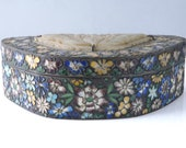 c1900 Chinese Cloisonne Box with Stone Inset on lid